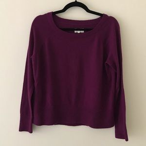 LOU & GREY Purple Scoop Neck Sweater